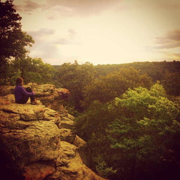 Early morning at Garden of the Gods in Southern Illinois.