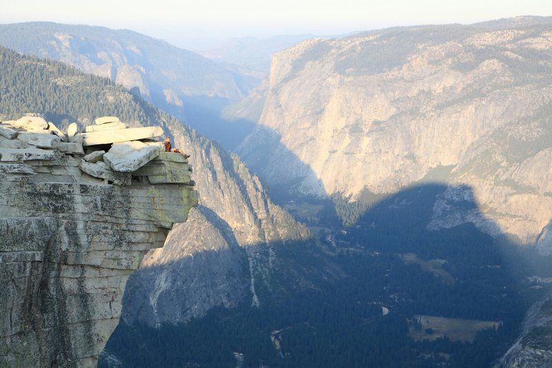 Chillin' on top of Half Dome.