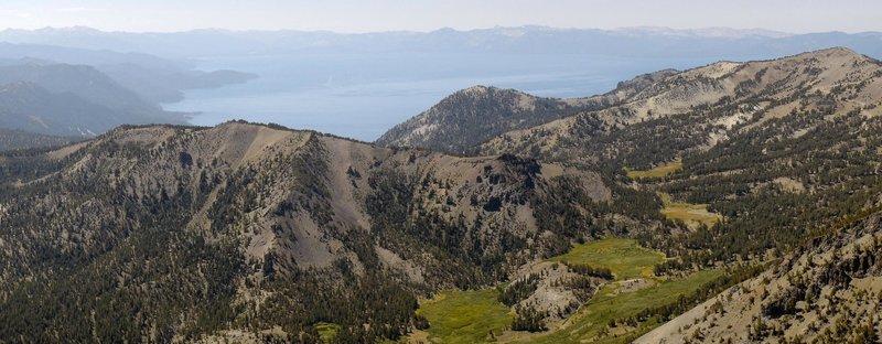 Lake Tahoe from Mount Rose summit.