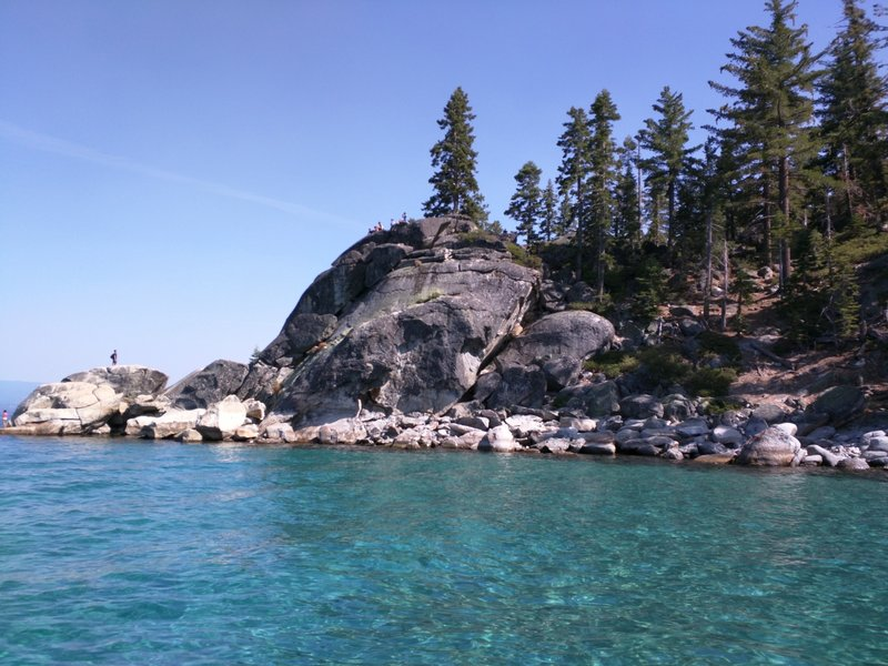 The crystal clear waters of Rubicon Bay, Lake Tahoe.