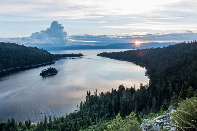 Emerald Bay in the morning light.