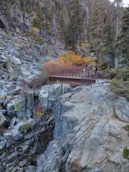 The bridge crossing along the Eagle Lake Trail.
