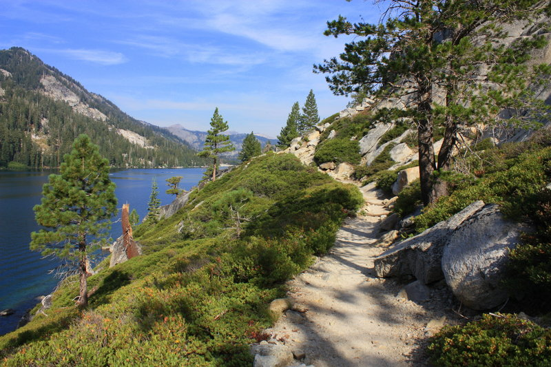 The Pacific Crest Trail along Lower Echo Lake.