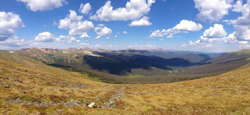 Looking toward the northwest over Chapin Creek. On the left you can see Alpine Visitor Center in the distance