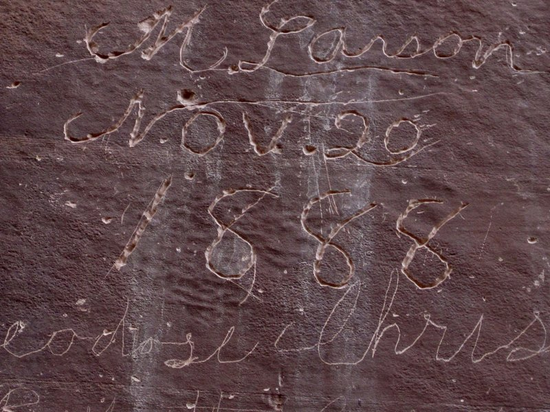 One of many signatures at the Pioneer Register along the Capitol Gorge Trail. with permission from Peter Connolly