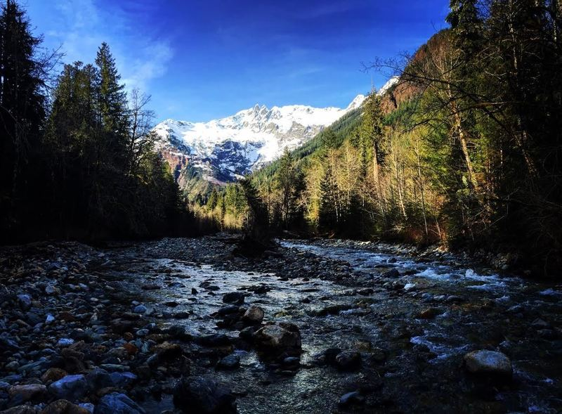 Mount Shuksan from the Baker River Trail.
