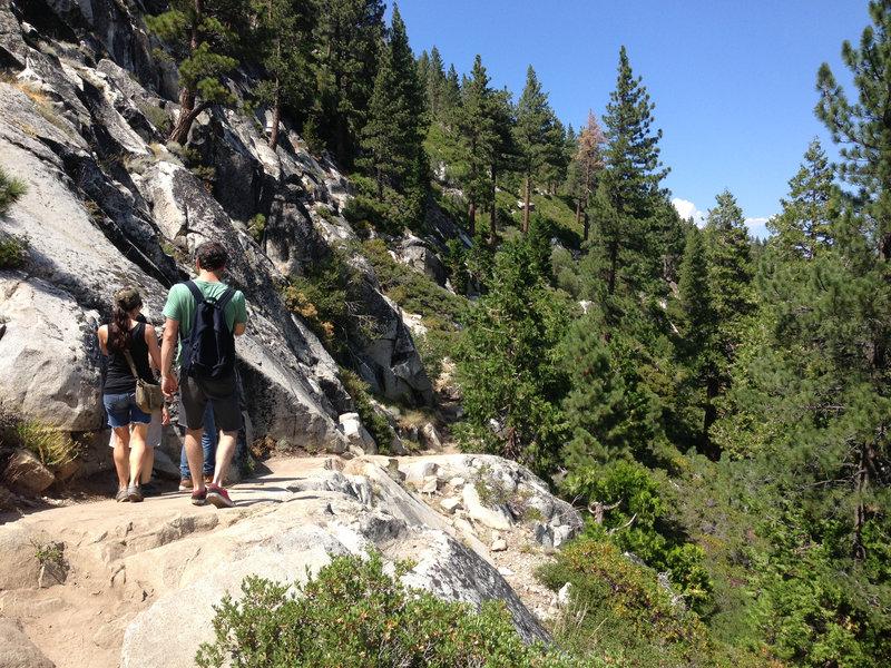 Heading up Cascade Falls.