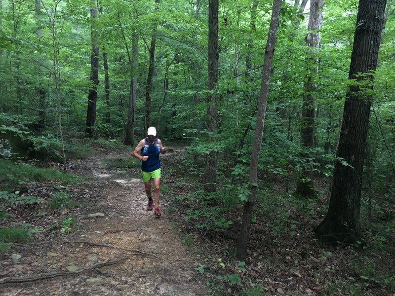 Even after two days of rain, the trails were very runnable!