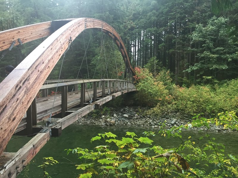 Beautiful bridge over the Middle Fork of the Snoqualmie River
