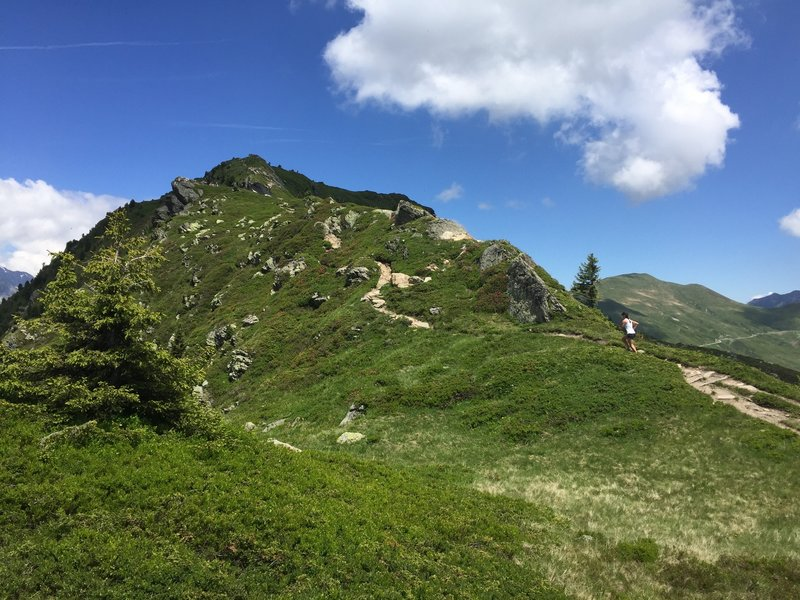 Outstanding trail running on the Aguillette des Posettes