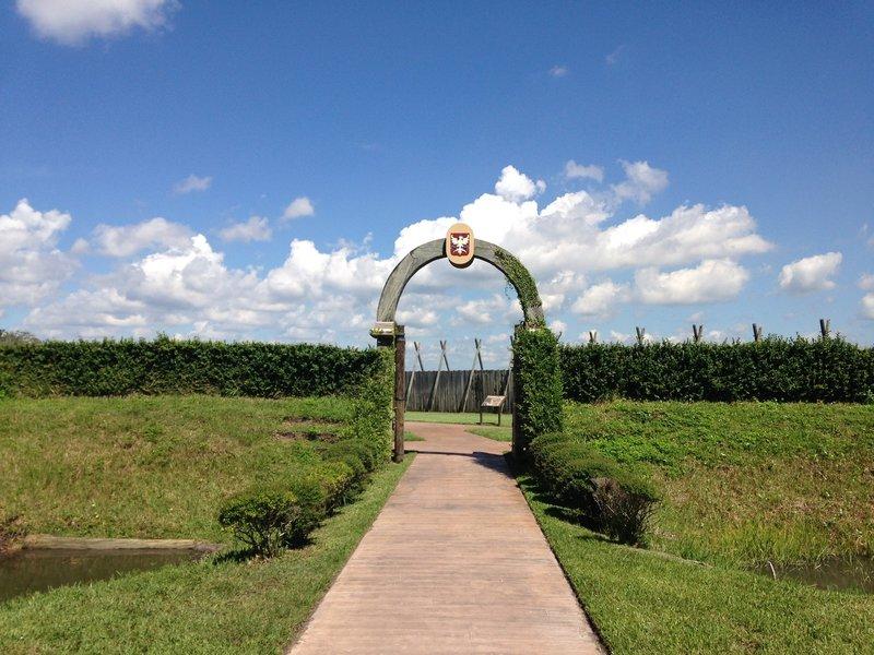 Entrance to Fort Caroline
