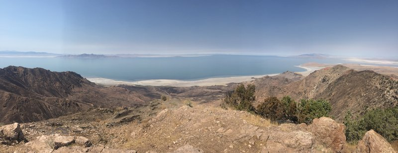 North west view of the Great Salt Lake from the top of Frary Peak.