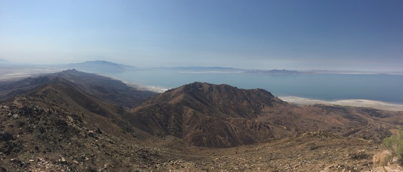 South west view of the Great Salt Lake from the top of Frary Peak.
