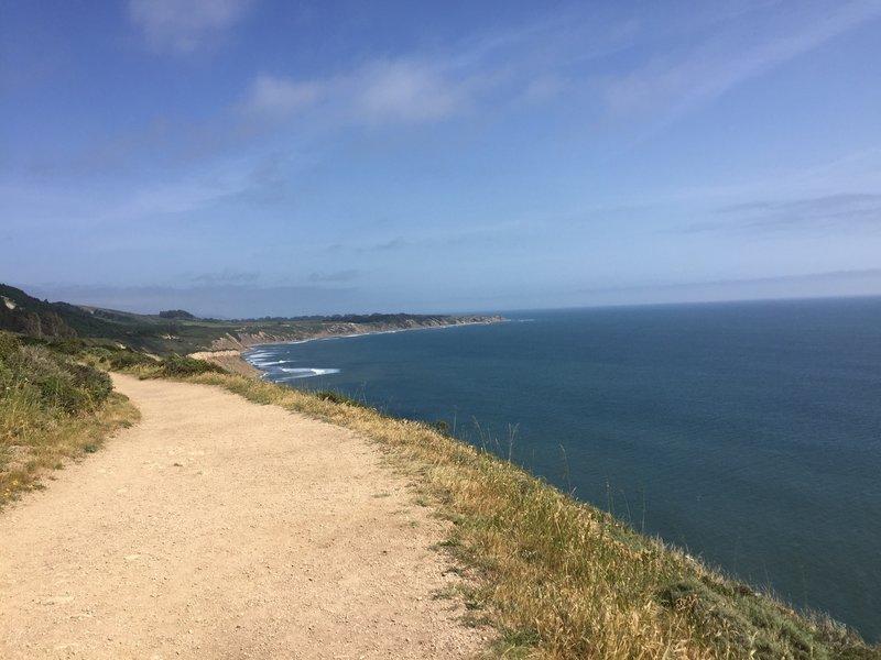 The Palomarin trail makes its way along the coast.