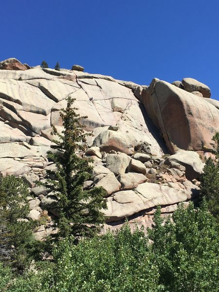 Yes, they are rappelling on this beautiful rock. You can also hike or go bouldering many areas of this national forest.