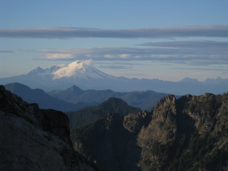 View of Mt. Baker from Tin Can Gap Trail.