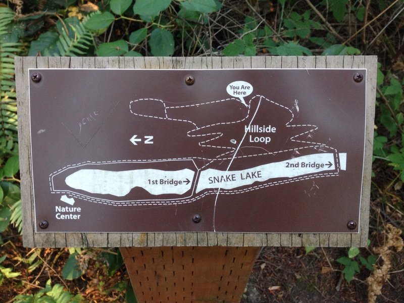 Trail maps are placed along the route at all major intersections.