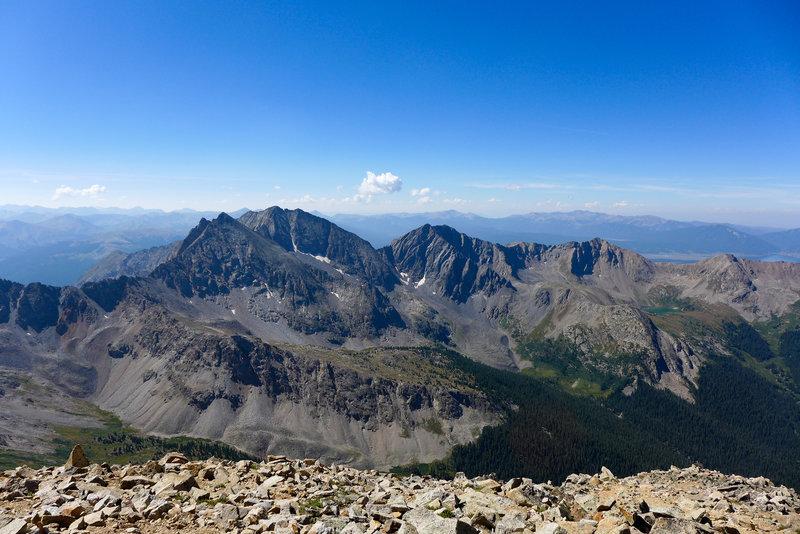 At the peak looking South at the 3 Apostles
