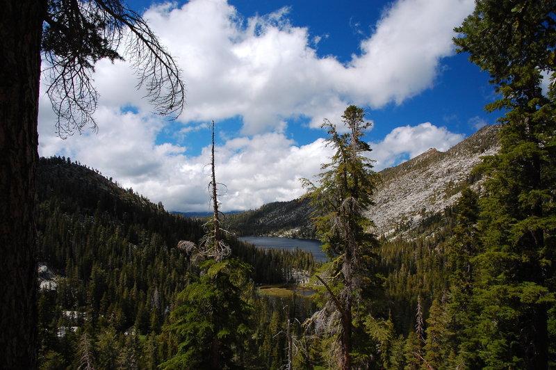 A view down to Stony Ridge Lake.