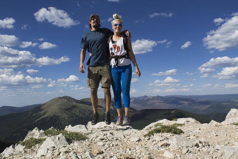 Action Hop atop Lake Peak.