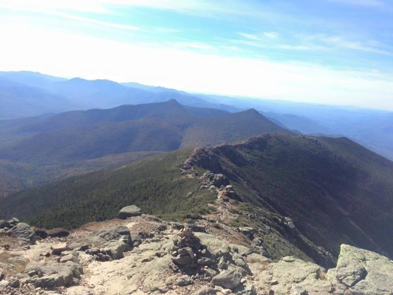 Garfield Trail ridgeline looking CCW to Mt Lafaette.