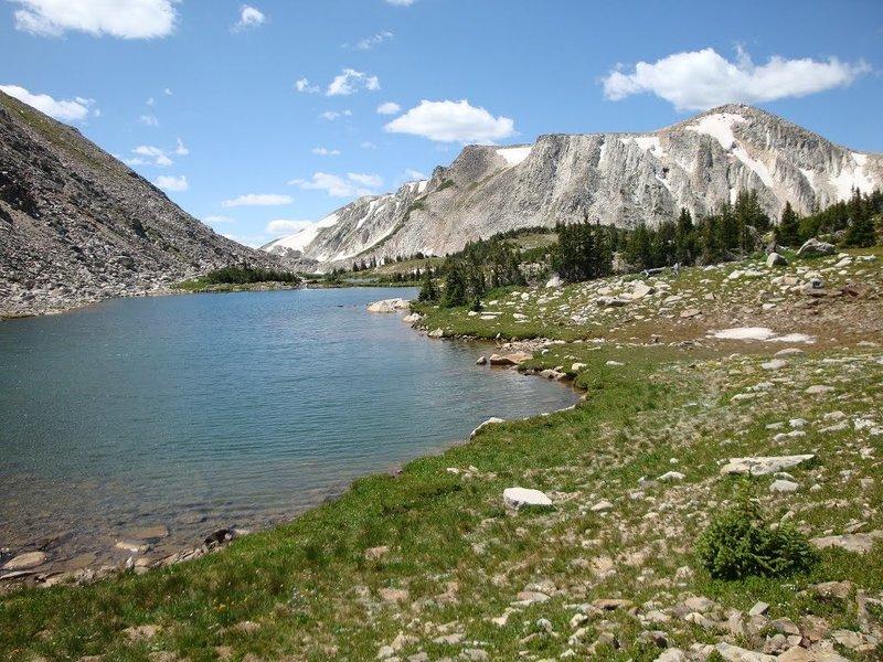 Medicine Bow Peak from Shelf Lakes Trail (109), Snowy Range.