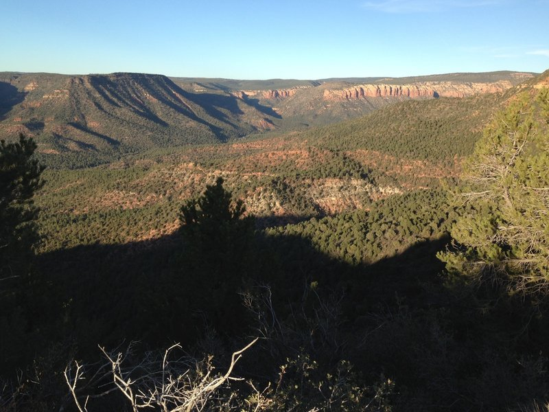 Sunset over Fossil Creek Canyon.
