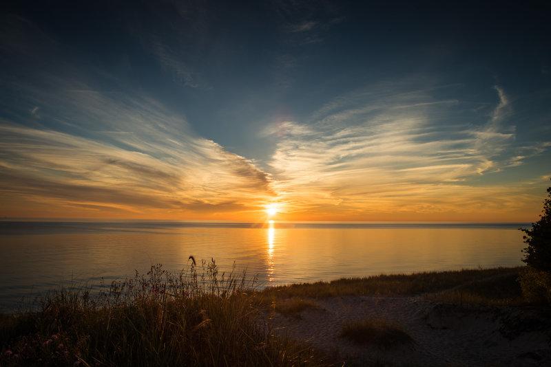 Great sunset on the beach!