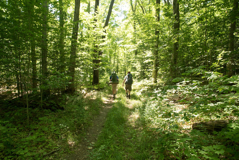 Backpacking on North Manitou Island.