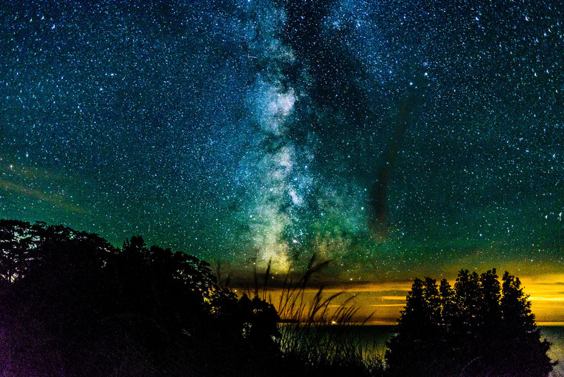 The Milky Way from the shore of Lake Michigan on North Manitou Island!