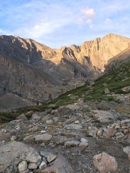 Chasm Lake Trail- view of Long's Peak Diamond