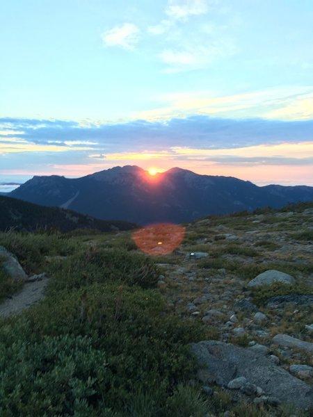 Chasm Lake Trail- sunrise