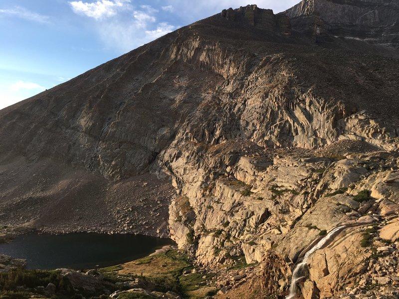 Chasm Lake Trail- Peacock Lake and Falls