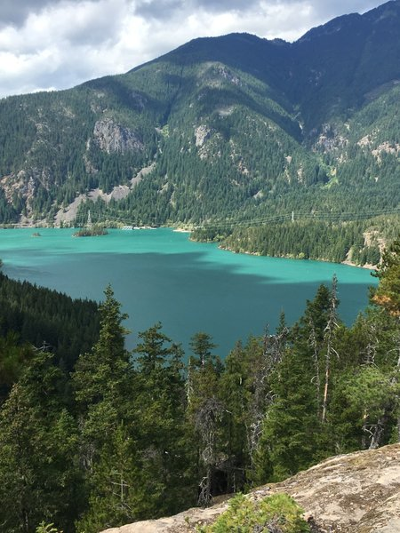 The rewarding view of Diablo Lake from the top!!!