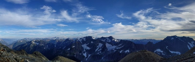 View from Sahale Glacier campground