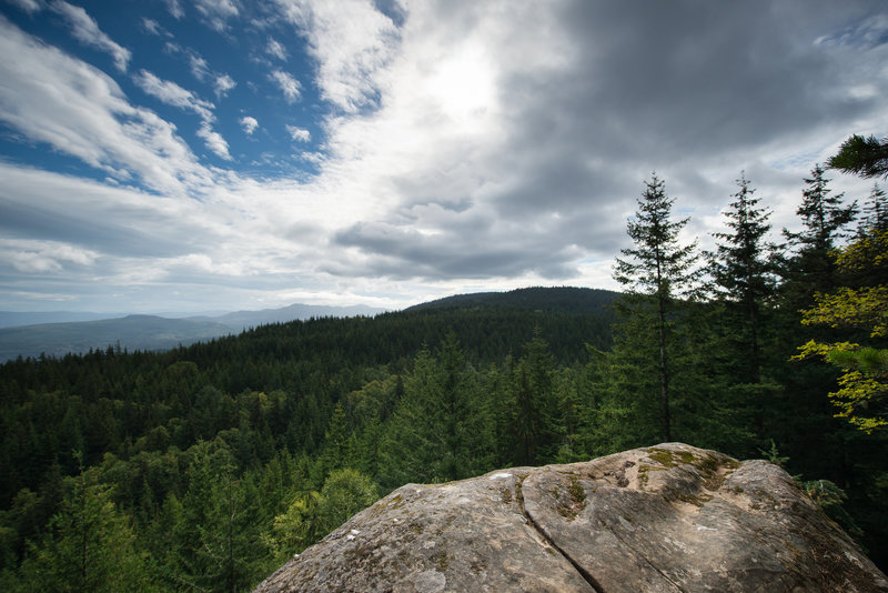A view east off of the Chuckanut Ridge Trail.