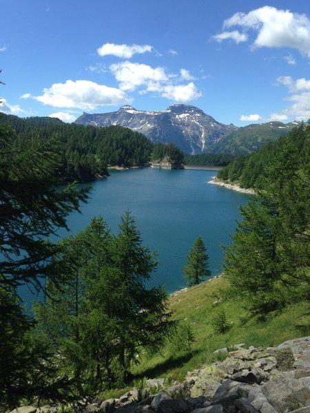 Lake Devero seen from the western side - Lago Devero visto dal lato occidentale