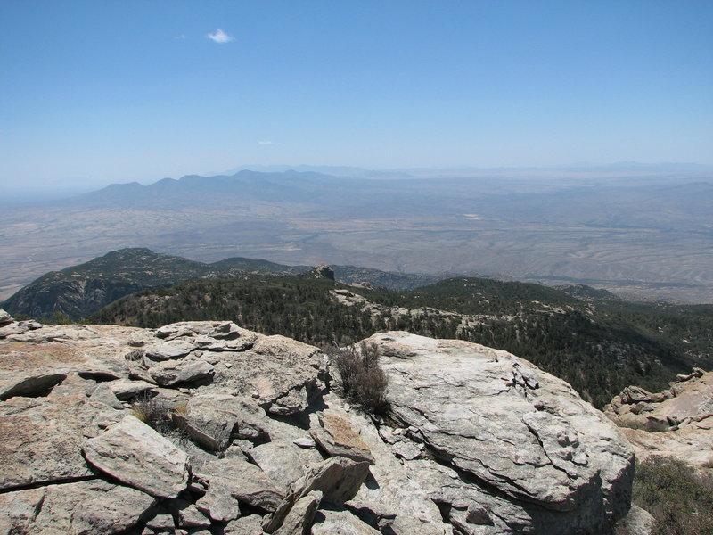 Rincon Peak views on a hazy day.