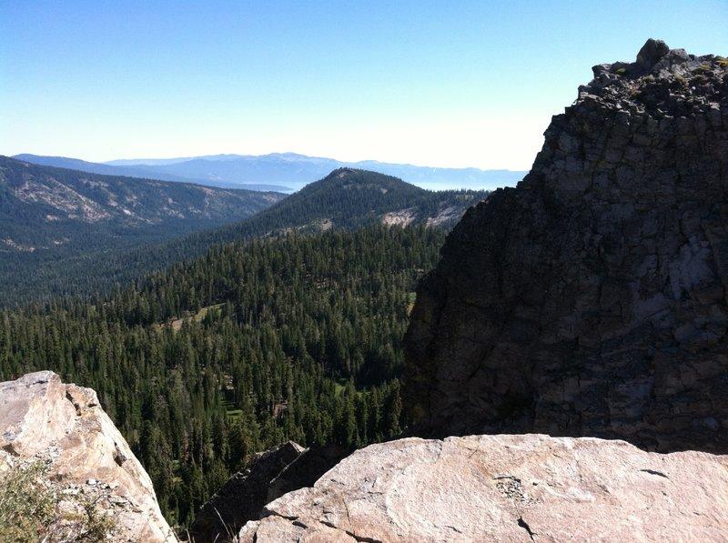 View of the Tahoe Basin below.