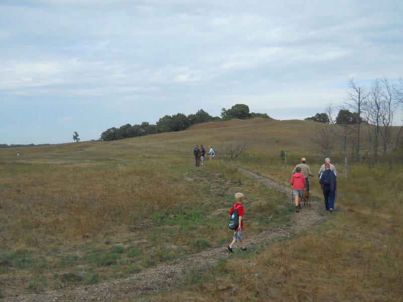 Hiking along the Oak Leaf Loop Trail.