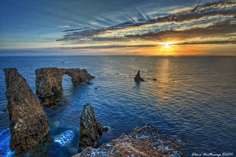 Anacapa Island sunrise with Arch Rock. with permission from Elena Omelchenko