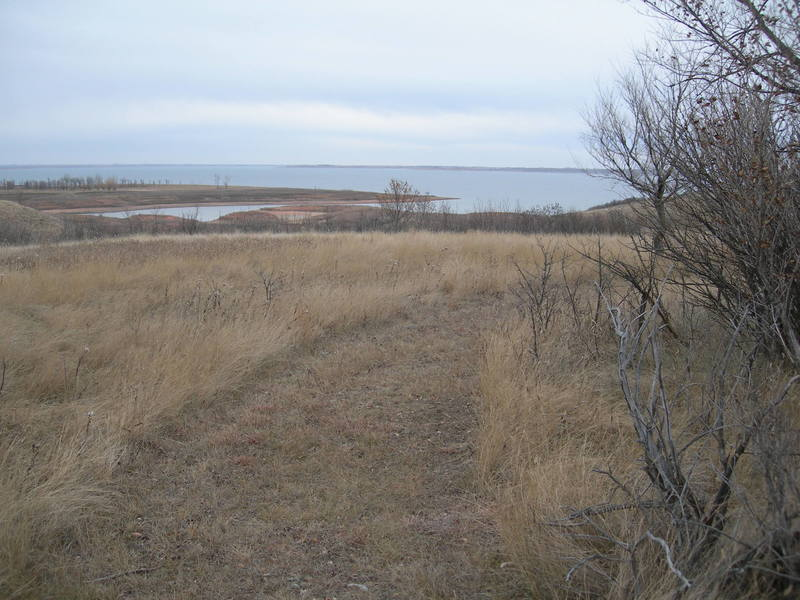 The view of Lake Sakakawea from along the Shoreline Trail.