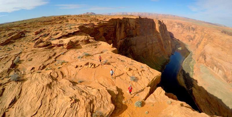 High, high above the Colorado River!