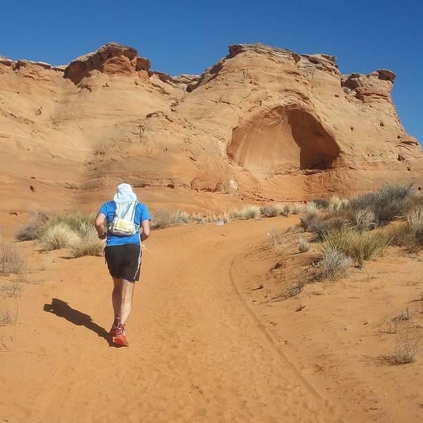 Through the desert.