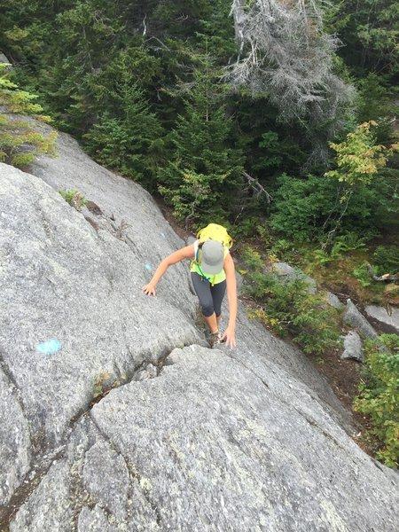 A little sideways climbing on the way to White Rock Mountain summit.