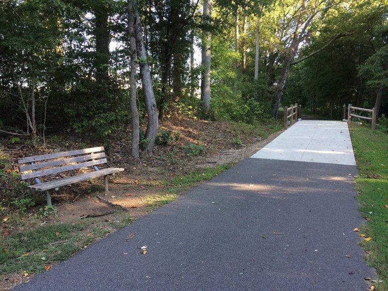 Bridge and bench.