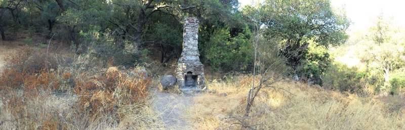 Cabin ruins.