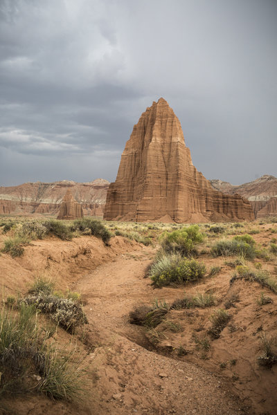Temples of the Sun and Moon in Cathedral Valley. Photo credit: NPS/Travis Lovell.