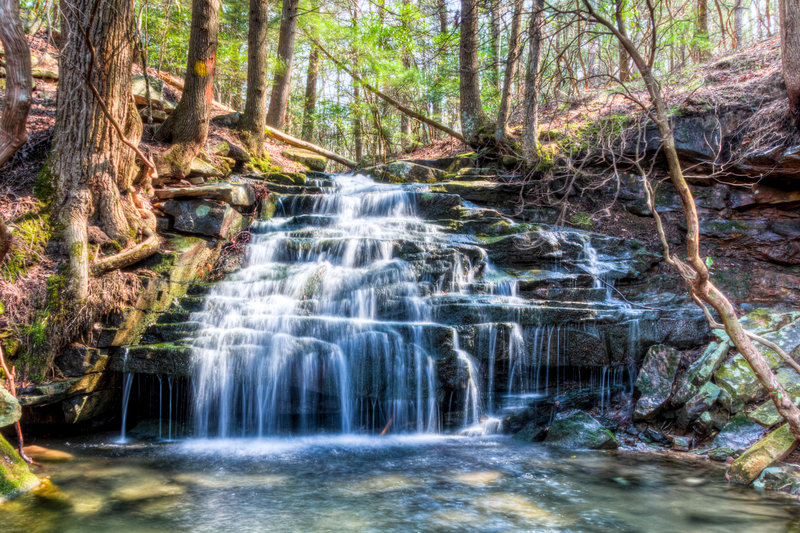Virgin Falls State Natural Area - Big Laurel Creek.