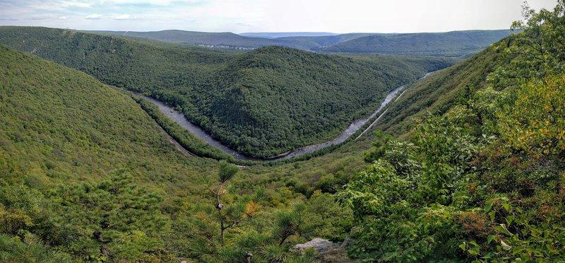 Panoramic of Lehigh Gorge
